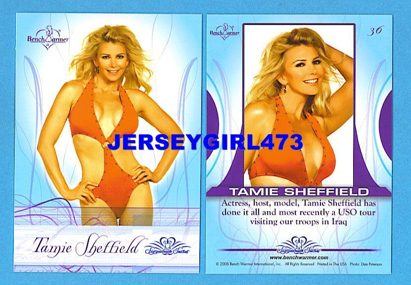 Sexy Tamie Sheffield 2008 Bench Warmer Signature Series Card #36