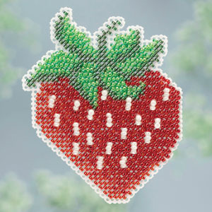 Strawberry Spring Bouquet 2013 collection beaded ornament kit Mill Hill