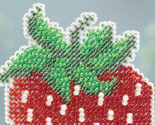 Strawberry Spring Bouquet 2013 collection beaded ornament kit Mill Hill image 2