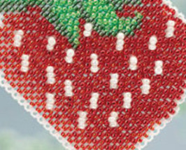 Strawberry Spring Bouquet 2013 collection beaded ornament kit Mill Hill image 3