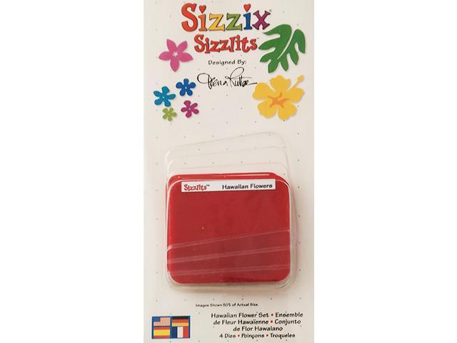 Sizzix-Sizzlits Hawaiian Flower Dies, Set of 4 #38-9743