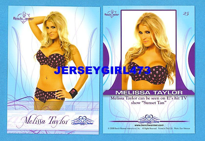 Sexy Melissa Taylor 2008 Bench Warmer Signature Series Card #25 ~ Sunset Tan