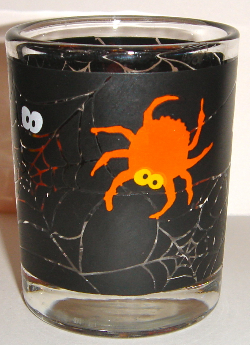Halloween votive candle holder spider web pattern used for Used candle holders