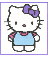 Hello Kitty Crochet Graph Afghan Pattern - $5.00
