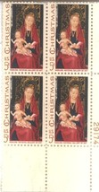 1967 Christmas Issue Plate Block of 4 Scott #1336 - $1.50
