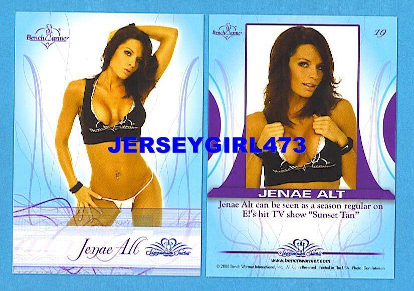 Sexy Jenae Alt 2008 Bench Warmer Signature Series Card #19 ~ Sunset Tan