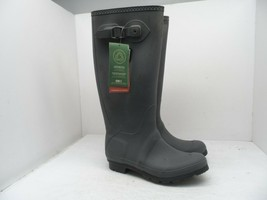 Kamik Women's Jennifer Tall Black Rain Boots Gray Size 9M - $66.49
