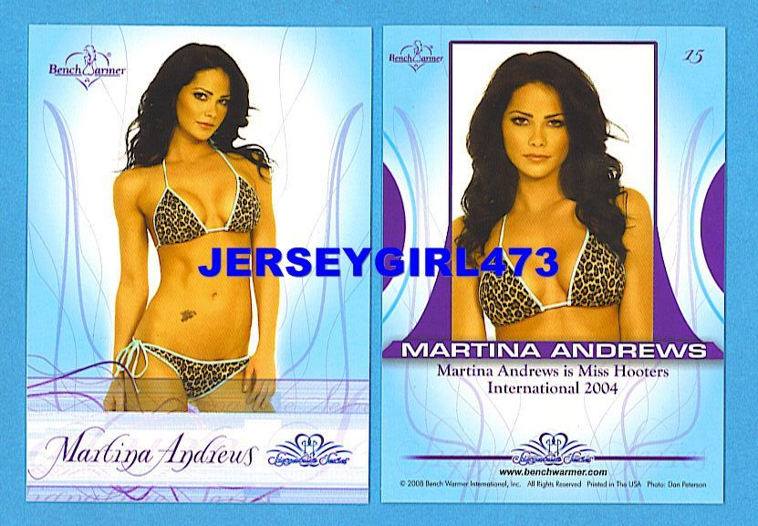 Sexy Martina Andrews 2008 Bench Warmer Signature Series Card #15