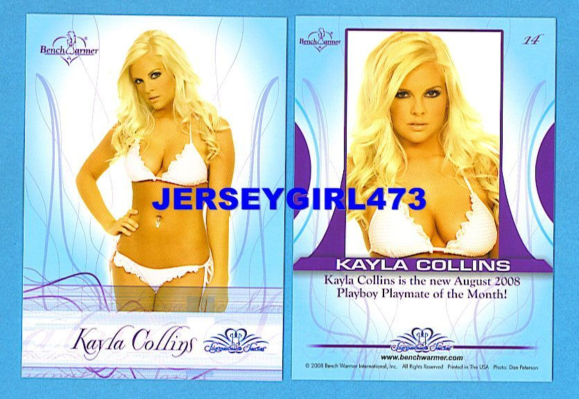Sexy Kayla Collins 2008 Bench Warmer Signature Series Card #14