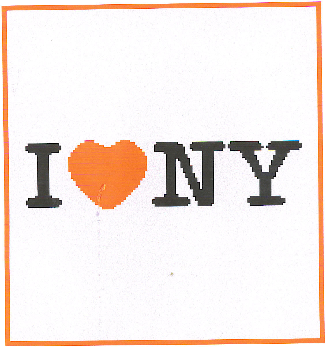 I Luv New York Crochet Graph Afghan Pattern