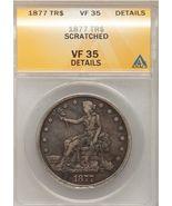 1877 Trade Dollar $1 VF35 ANACS - €138,06 EUR