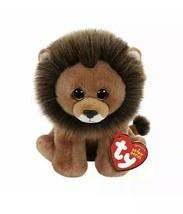 TY Cecil Zimbabwe Lion Stuffed Animal Toy Velvety New Plush Beanie Baby - $9.89