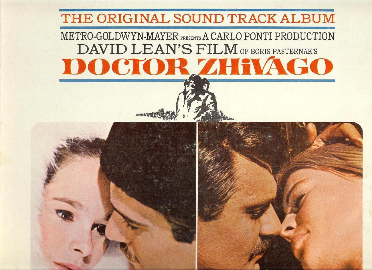 DOCTOR SHIVAGO,THE ORIGINAL SOUND TRACK ALBUM, 1966, MGM