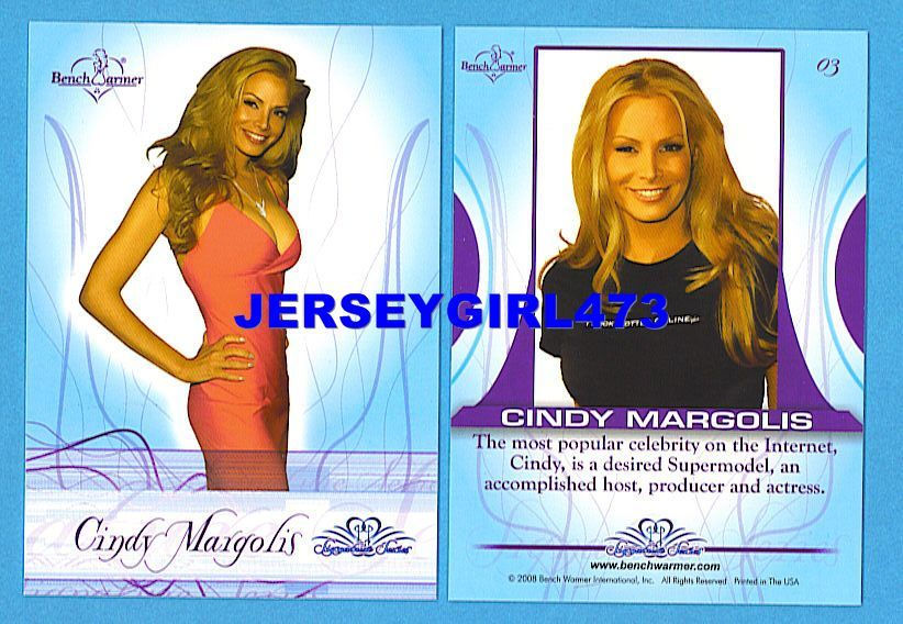 Sexy Cindy Margolis 2008 Bench Warmer Signature Series Card #03