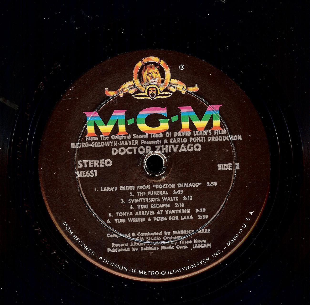 DOCTOR SHIVAGO,THE ORIGINAL SOUND TRACK ALBUM, 1966, MGM image 6