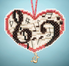 Love Notes I LOVE charmed ornaments 2013 beaded ornament kit Mill Hill image 1