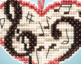 Love Notes I LOVE charmed ornaments 2013 beaded ornament kit Mill Hill image 2