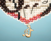 Love Notes I LOVE charmed ornaments 2013 beaded ornament kit Mill Hill image 3