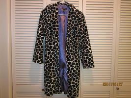 bebe zebra print belted coat - size small image 1