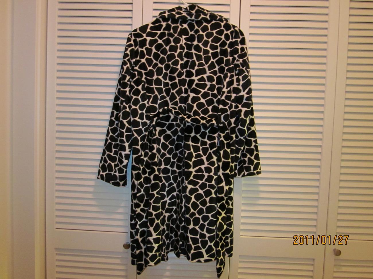 bebe zebra print belted coat - size small image 2