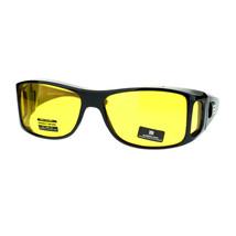 OTG (Over The Glasses) Yellow Lens Anti-Glare Semi Goggle Sunglasses - $11.39