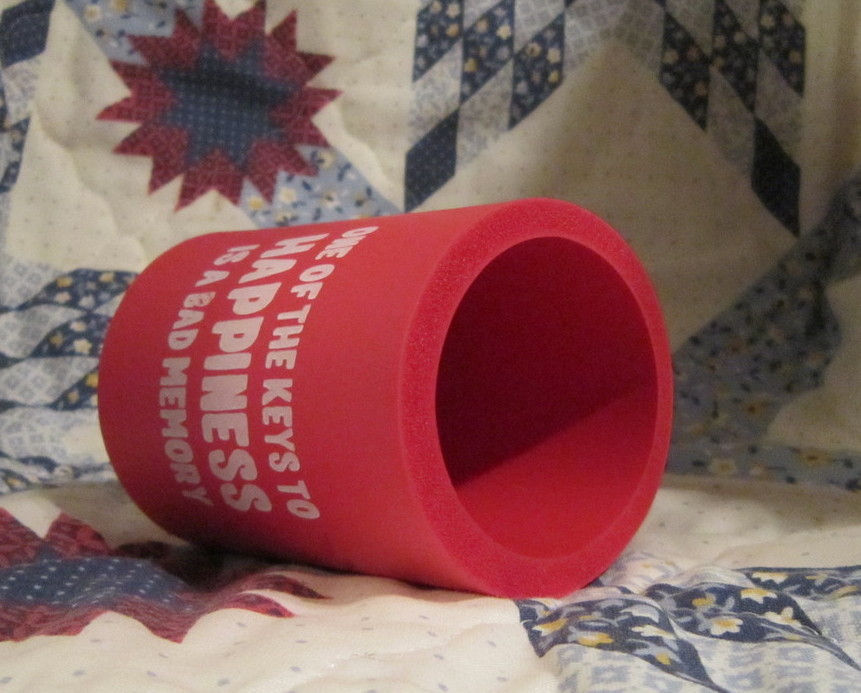 Red Smart Alec Foam Holder for Cold Canned Beverages