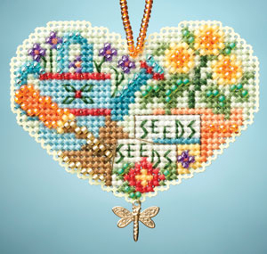 Love Gardening I LOVE charmed ornaments 2013 beaded ornament kit Mill Hill image 1