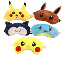 Pokemon Soft  Eye Mask Travel Nap Rest Sleep Blindfold Eye Cover Pikachu... - $9.07 CAD
