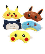 Pokemon Soft  Eye Mask Travel Nap Rest Sleep Blindfold Eye Cover Pikachu... - $8.72 CAD