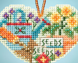 Love Gardening I LOVE charmed ornaments 2013 beaded ornament kit Mill Hill image 2