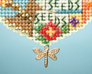 Love Gardening I LOVE charmed ornaments 2013 beaded ornament kit Mill Hill image 3