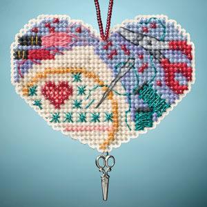 Love Stitching I LOVE charmed ornaments 2013 beaded ornament kit Mill Hill
