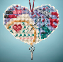 Love Stitching I LOVE charmed ornaments 2013 beaded ornament kit Mill Hill image 1