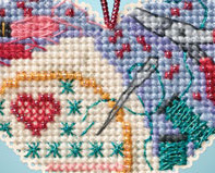 Love Stitching I LOVE charmed ornaments 2013 beaded ornament kit Mill Hill image 2