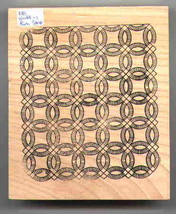 Double wedding ring quilt Rubber Stamp made in america free shipping  - $29.95