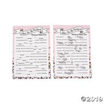 Confetti Design Newlywed Advice Word Fun Game  - $7.74