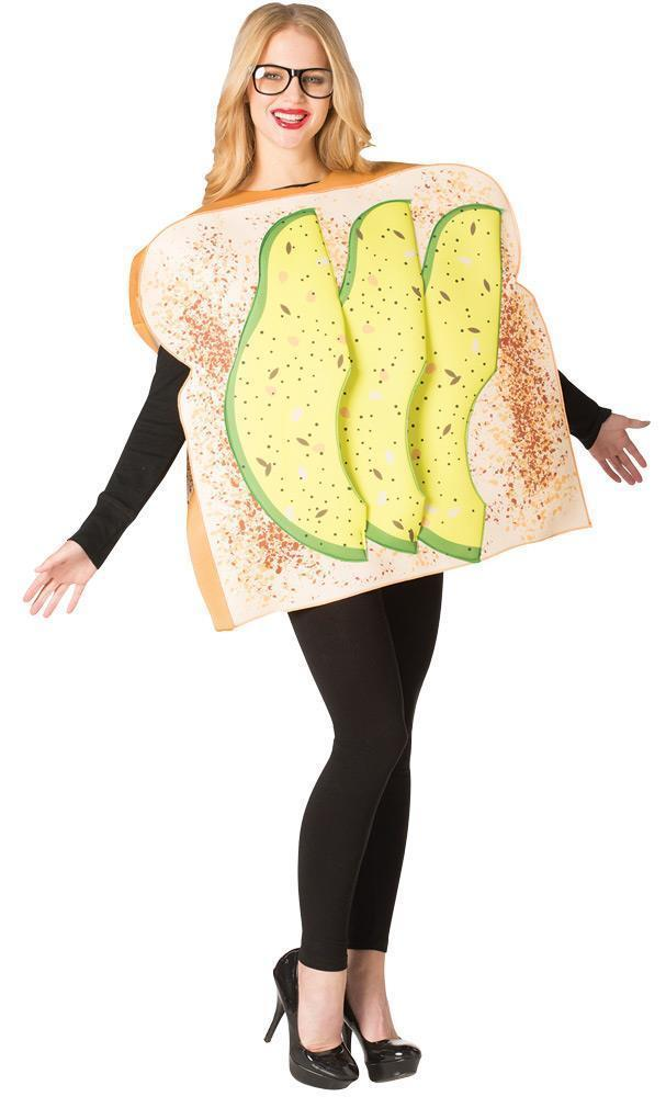 Avocado Toast Adult Costume Tunic Men Women Food Halloween Unique GC6948