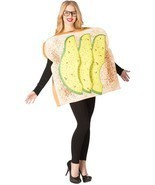 Avocado Toast Adult Costume Tunic Men Women Food Halloween Unique GC6948 - €48,64 EUR