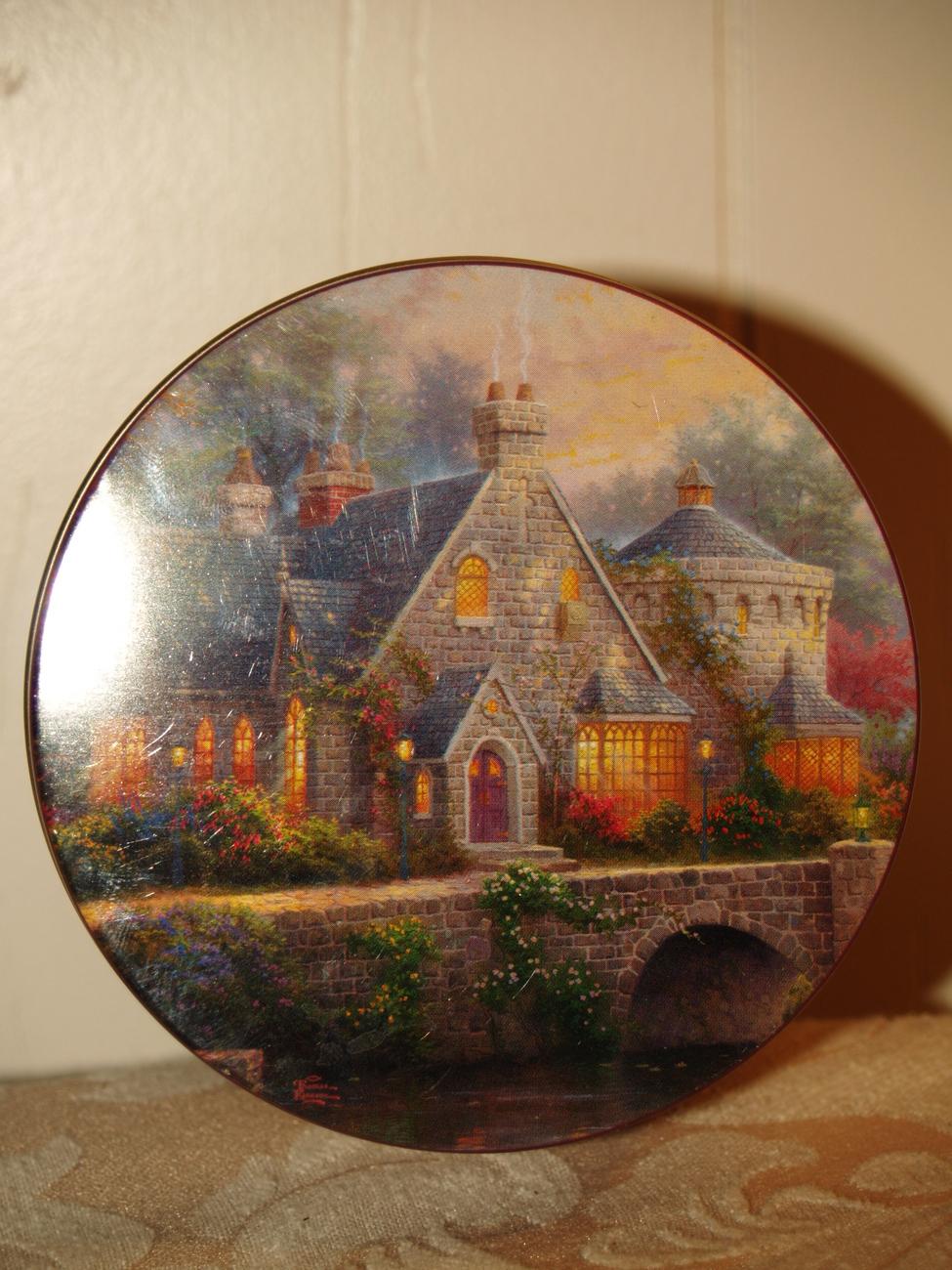 Thomas Kinkade painting of light on Tin can