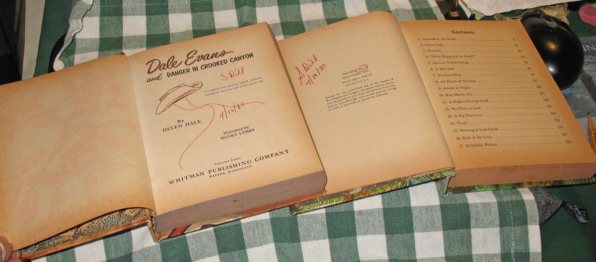 2 Vintage Kids Books, Dale Evans & Roy Rogers, 55 & 58