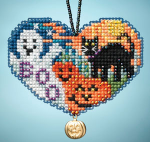 Love Halloween I LOVE charmed ornaments 2013 beaded ornament kit Mill Hill
