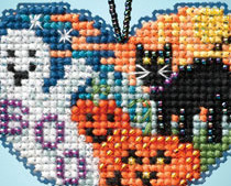 Love Halloween I LOVE charmed ornaments 2013 beaded ornament kit Mill Hill image 2