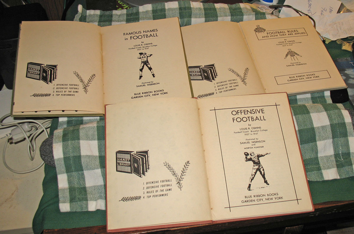 3 Vintage Football Rules Books, Louis R. Oshins, 1949