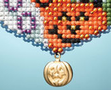 Love Halloween I LOVE charmed ornaments 2013 beaded ornament kit Mill Hill image 3