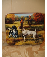 Dog protrait painting on tin can cover - $10.95