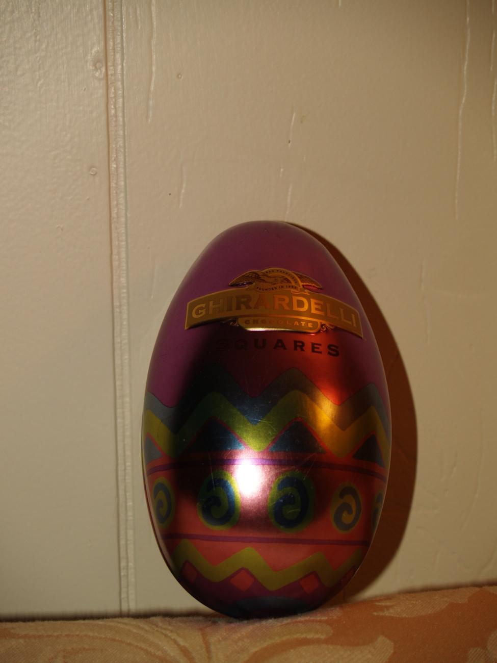 Ghiradelli Chocolate Egg Shap Tin