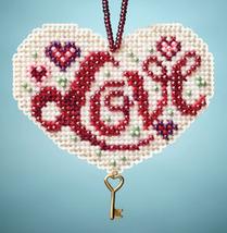 Love I LOVE charmed ornaments 2013 beaded ornament kit Mill Hill - $6.30