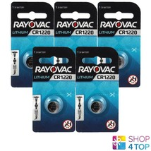 5 Rayovac CR1220 Lithium Battery 3V Cell Coin Button Watch Exp 2023 38 M Ah New - $7.42
