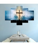 Canvas Painting Wall Art Living Room Decor 5 Panel Artwork Jesus Crucifi... - $85.80