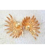 Napier Elegant Mid Century Modern Golden Brooch... - $19.95